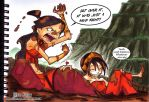 Katara and Toph -Mud Fight- by DonPapi