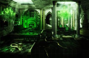 Slytherin Common Room by audofit