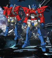 G Exes G1 Optimus Colors by AlmightyElemento