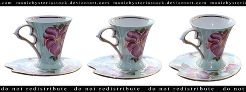 Tea Cup cut out by ManicHysteriaStock