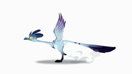 Frantz the Archeopteryx - the running cycle (GIF) by Dragibuz