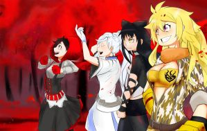 RWBY: A Walk Through the Red Forest (Shirow Miwa) by SibArtsmen