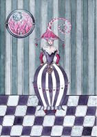 Queen of Hearts by dragonflywatercolors