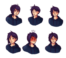 Sebastian's Expressions by MagicallyClueless