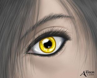 Yellow Eyes by Ailinon