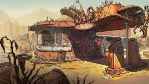 Gas Station by scerg
