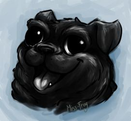 pug draw by miss-frog