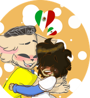 [Messy and Colored Sketch] Mexican Besties! by Karol-88