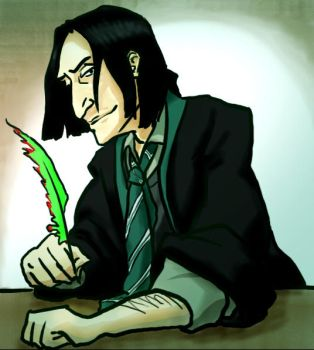 Young Snape with a quill by infiniteviking