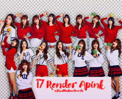 [Share Render] 17 Render Apink by KhanhLinhCucheoo