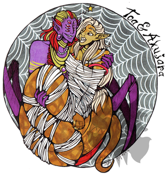 ((Badge commission)) Cought in his web by Franken-Fish
