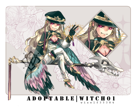 [CLOSED] Adoptable | Witch 01 by wizelf35384
