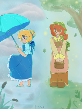 Cyan and Green by Passionrising