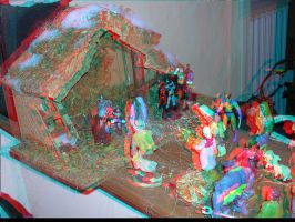 Creche 3D anaglyph by xmancyclops