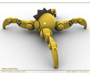 Yellow SpiderBot by SoloAlien