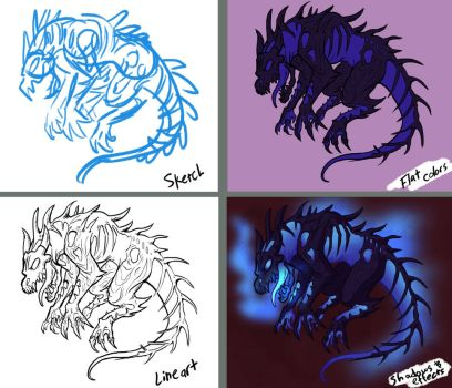 Glowing Creature Process by QuietBadger