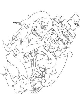 pirate tattoo no color vector by Slyman007