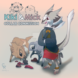 [Collab Commission Open] Kiki and Mick commission by Kiki-CR