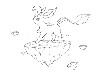 Leafeon (line Art) by whonghaiw