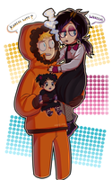 South Park  Goth dollie  Karen y Kenny McCormick by LaliChan94