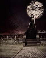 Nina Dobrev - Queen Of The Night (Sepia) by DDxxCrew
