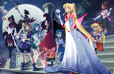 Draw This Again: Sailor Senshi by Gryphon-Shifter