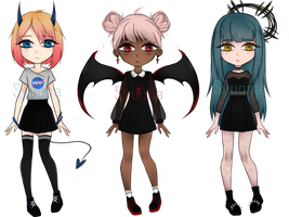 [OPEN] Dark Adopts! setprice | paypal/pionts by Syuona
