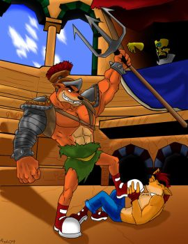 Gladiator Tiny VS Crash by Ashetoret