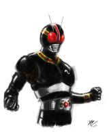 Masked Rider Black by stryfers
