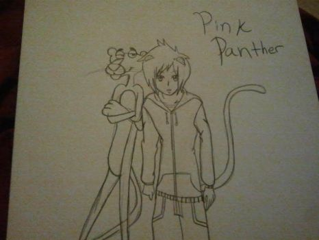 Pink panther and human form by carly18