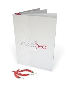 india red menu mock-up by crezo