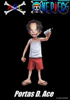 Portas D. Ace (Kid) by sturmsoldat1