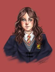self portrait as a Gryffindor  by ItoracArt
