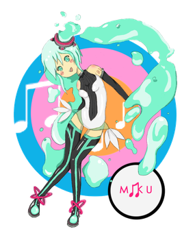 Miku Miku Colored Ver. by ColoredColourPencils