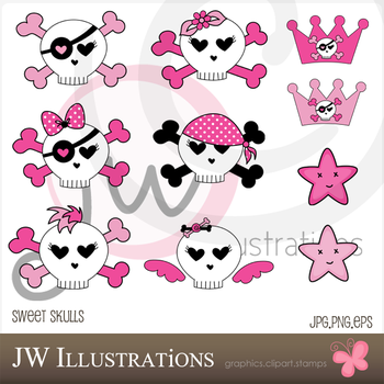 Sweet Skulls by jdDoodles