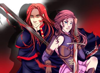 Jezebel and Hezron~ Red Hed Duo by TheGrigoriAnime