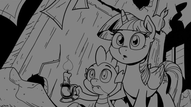Twi and Spike Exploring (work in progress) by LateCustomer