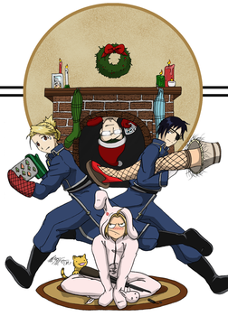 A FullMetal Christmas Story by Robo-Shark