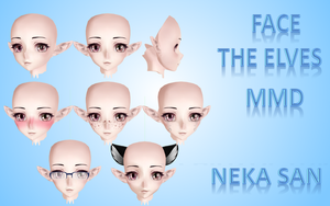 face the elves MMD TDA by NekaSan