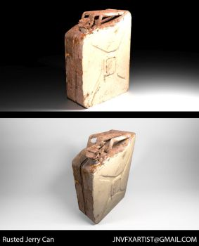 Photorealistic Rusted Jerry Can by JordanNVFX