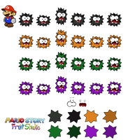 Fuzzies (Mario Story Fruit Shake) by DerekminyA