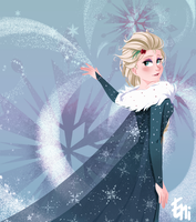 Olaf's Frozen Adventure - Elsa by Tokio92