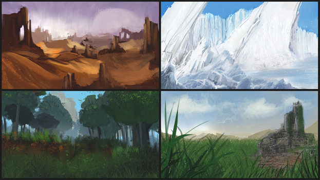 Biomes Sketches by ConceptGuy