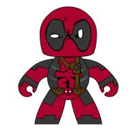Mighty Muggs Deadpool by spidey42410