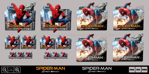Spider-Man Homecoming (2017) Folder Icon Pack by Bl4CKSL4YER
