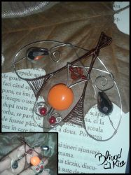 Wire-Wrapping necklace by Bliood-Kira