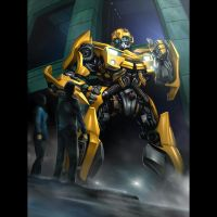 Bumblebee meets Sam by Rex-suler