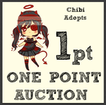 (OPEN) 1 POINT AUCTION CHIBI ADOPTS by Eariz