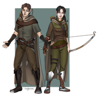 Kieran and Maeira colored by SeriousTurtle