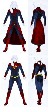 Smallville Season 11 Supergirl Costume Design by gattadonna